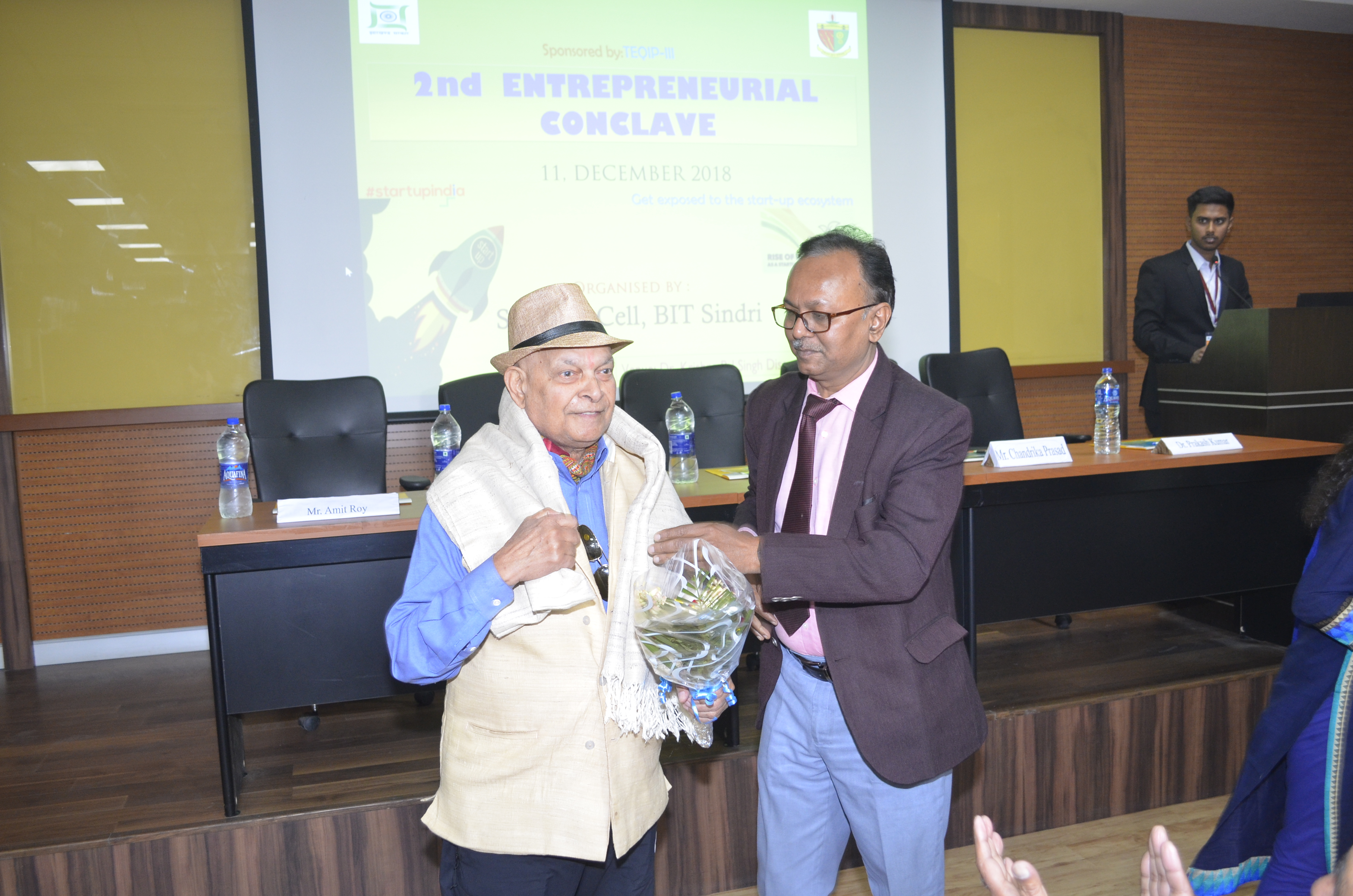 bit start up cell our director sir dr d.k singh addressing mr sn sharma us based industrialist and alumni.jpg